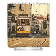 Iconic Lisbon Streetcar No. 28 Iv Shower Curtain