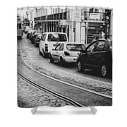 Iconic Lisbon Streetcar No. 28 V Shower Curtain