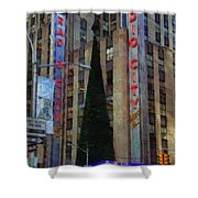 Iconic Radio City Shower Curtain
