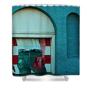 Iconic Urban Mural Shower Curtain