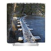 Icy Boardwalk Shower Curtain