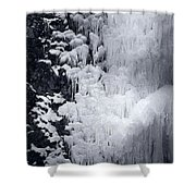 Icy Cliff - Black And White Shower Curtain