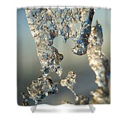 Icy Closeup Shower Curtain