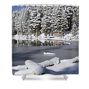 Icy Cold Shower Curtain