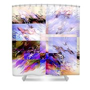 Icy Flames Shower Curtain by Hakon Soreide