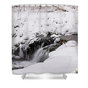 Icy Flow Shower Curtain