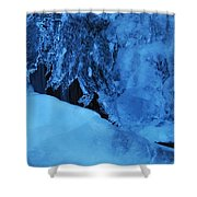 Icy Grimace Shower Curtain