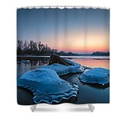Icy Jellyfish Shower Curtain