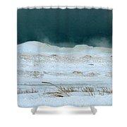 Icy Lake Michigan Shower Curtain
