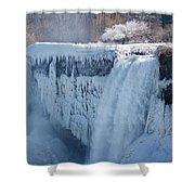 Icy Niagara Falls Shower Curtain