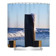 Icy Ocean Bulkhead Shower Curtain