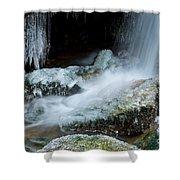 Icy Patapsco Waterfall 2 Shower Curtain