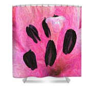 Icy Pink - Digital Painting Effect Shower Curtain