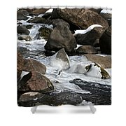 Icy Rapids Shower Curtain