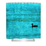 Icy Swim Shower Curtain