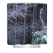 Icy Verticles Shower Curtain