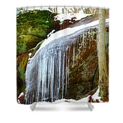Icy Waterfall  Shower Curtain