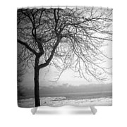 Icy Waters Of Lake Michigan Shower Curtain