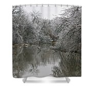 Icy Wonderland Shower Curtain