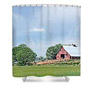 Idaho Falls Barn Shower Curtain