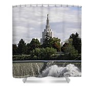 Idaho Falls Temple Shower Curtain