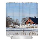 Idaho Falls Winter Shower Curtain