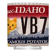 Idaho License Plate Shower Curtain