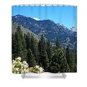 Idaho Mountain Side Shower Curtain