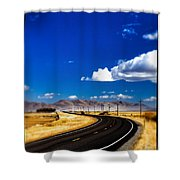Idaho Road Titl Shift Shower Curtain