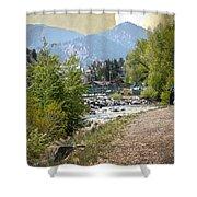 Idaho Springs Paradise Shower Curtain