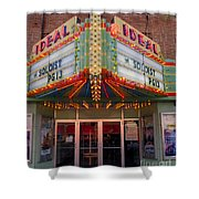 Ideal Theater In Clare Michigan Shower Curtain
