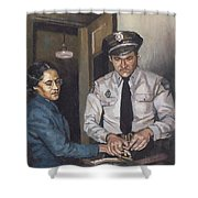 Identification Rosa Shower Curtain