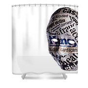 Identity Fraud Concept Mask Shower Curtain