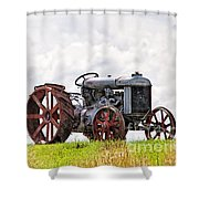 Idle Fordson Tractor On The Hill Shower Curtain