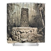 Idol And Altar At Copan Shower Curtain