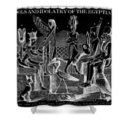 Idols  Of Egypt Shower Curtain