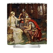 Idun And The Apples, Illustration Shower Curtain