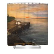 Idyllic Sunset Shower Curtain