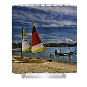 Idyllic Thai Beach Scene Shower Curtain
