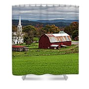 Idyllic Vermont Small Town Shower Curtain
