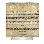 If By Rudyard Kipling Typography On Watercolor Shower Curtain