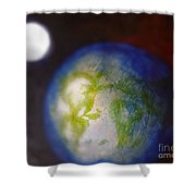 If Land Were Like Clouds In The Sky Shower Curtain