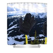 If The Glove Fits Shower Curtain