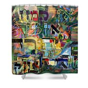 If There Is No Flour There Is No Torah 8 Shower Curtain