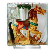 If Wishes Were Horses Shower Curtain