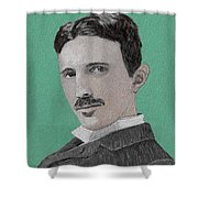 If You Could Read My Mind...tesla Shower Curtain