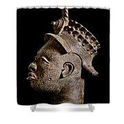Ife Bronze Royal Head Portrait Shower Curtain
