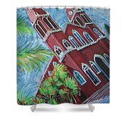 Iglesia Grecia  Costa Rica Shower Curtain