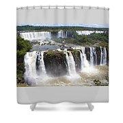 Iguacu Falls Brazilian Side Shower Curtain