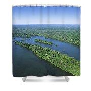 Iguacu River Above Iguacu Falls Brazil Shower Curtain